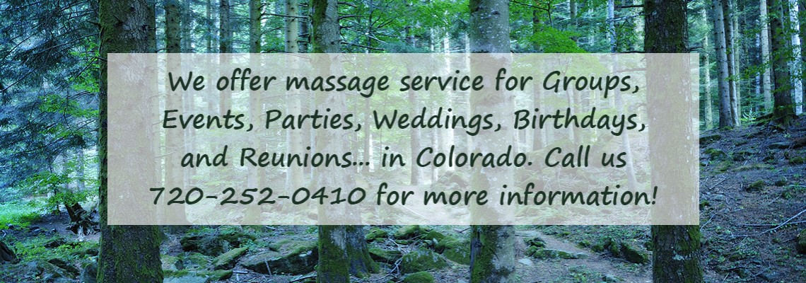 Massage Service for groups in Colorado